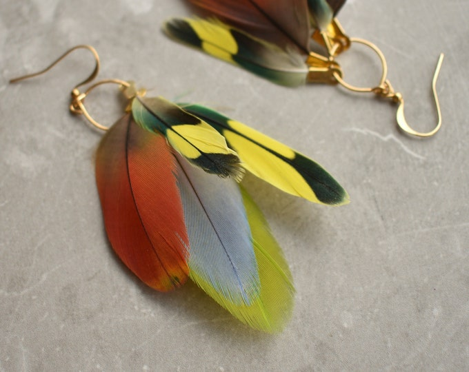 Tropical Feather Earrings No.5