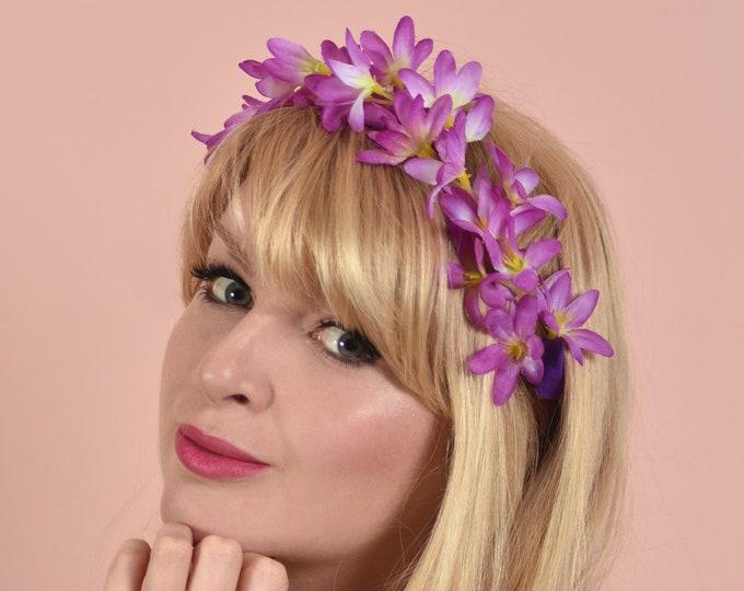 Purple Flower Crown Garland
