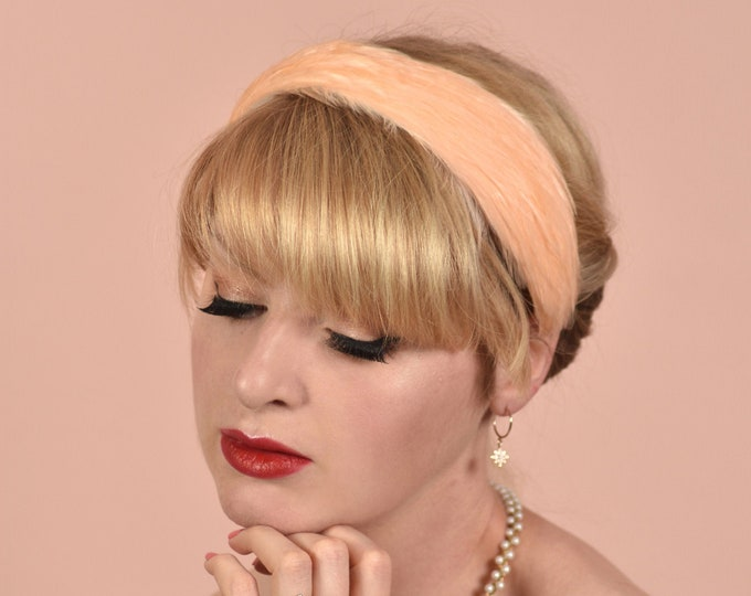 Bridal Blush Pink Feather Headband