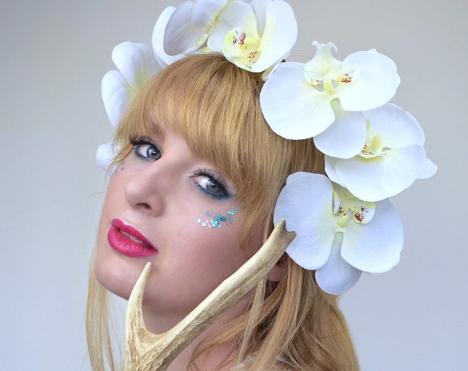 White Orchid Floral Headpiece