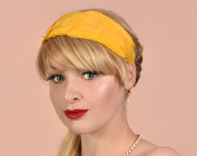 Butter Yellow Goose Feather Headband