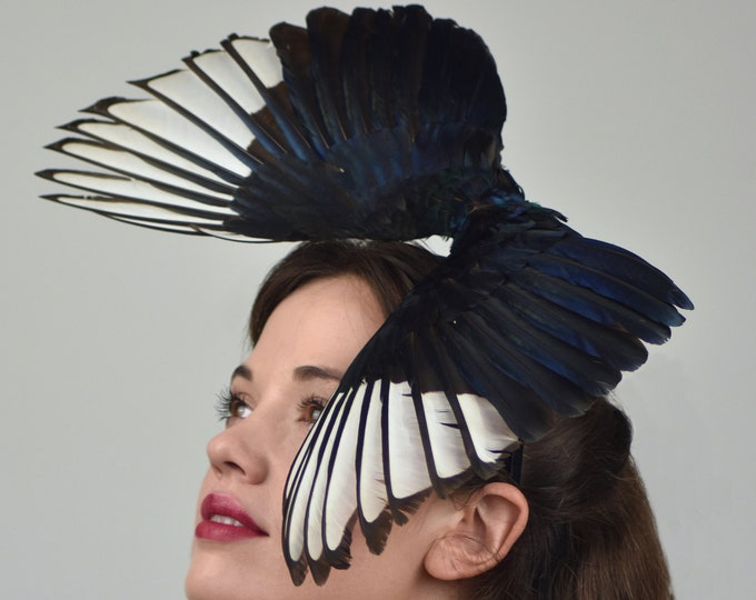Diving Magpie Wing Headpiece