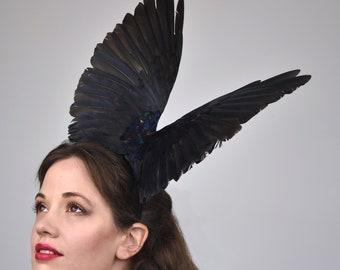 Black Crow Wing Headpiece