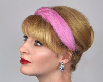 Feather Headband in Candy Pink