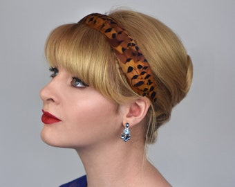 Feather Headband in Copper Pheasant Feathers