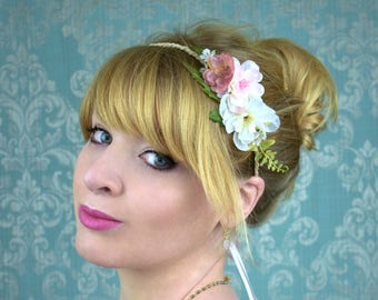 Pink Mini Flower Garland Crown