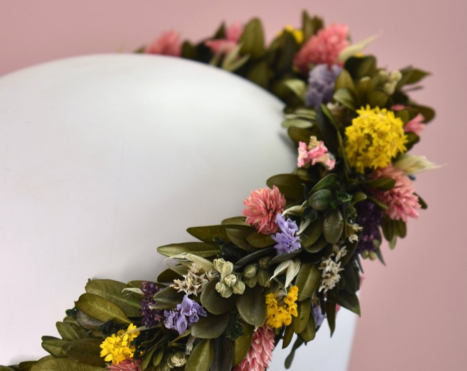 Spring Meadow Deluxe Flower Crown Wreath