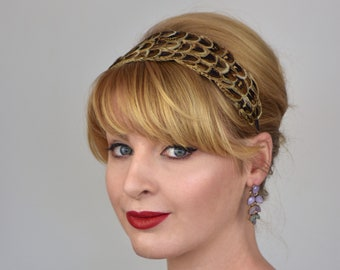 Feather Headband in Natural Hen Pheasant Feathers | Feather Fascinator | Feather Headpiece | Bridal Headpiece | Bridesmaid Headpiece