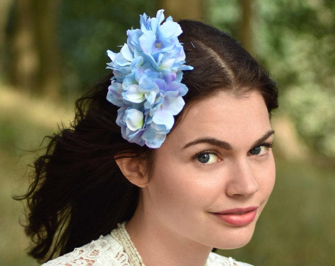 Blue Hydrangea Hair Comb