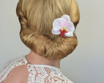 Orchid Flower Hair Clip in Pink or Purple