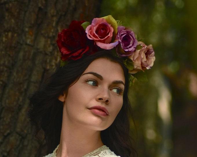 June - Ombre Rose Crown Headband