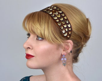 Feather Headband in Pheasant Feathers