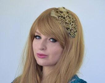 Pheasant Feather Fascinator Hair Clip in Blonde Hen Pheasant | Feather Hair Clip | Feather Headpiece | Pheasant Fascinator | Wedding