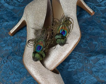 Feather Shoe Clips