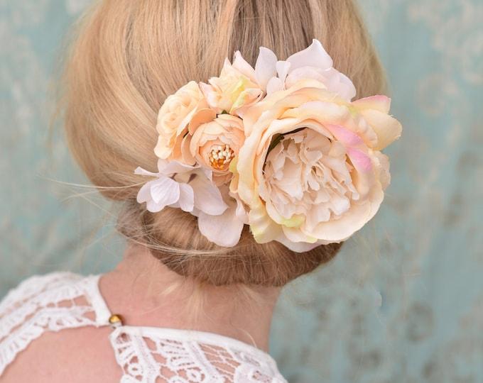 Ivory Blooming Rose Bridal Hair Clip
