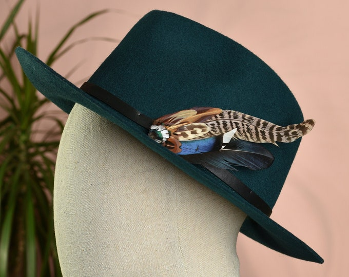Pheasant and Duck Feather Hat / Lapel No.72