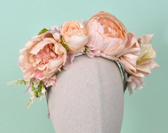 Blithe - Blush Pink Flower Crown Headpiece