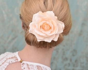 Blush Pink Rose Hair Clip