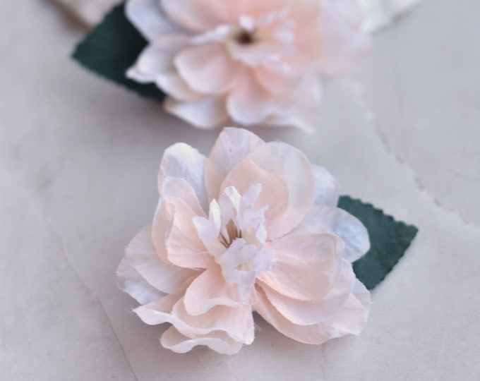Delicate Blossom Flower Hair Clip in Blush
