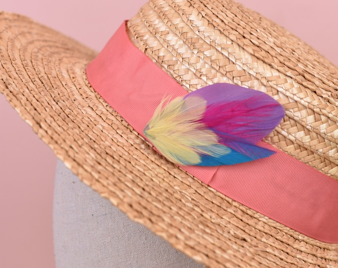 Bright Feather Hat Pin No.47