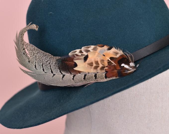 Pheasant Feather Hat Pin / Lapel Pin No.81