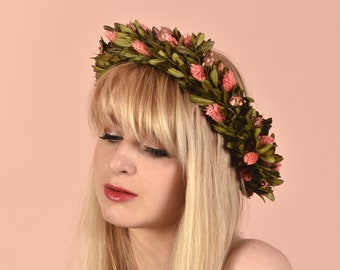 Rose Gold and Pink Deluxe Flower Crown Wreath