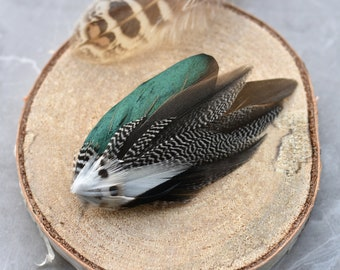 Mini Duck Feather Lapel Pin / Hat Pin Small No.120