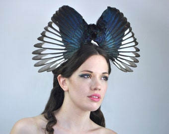 Elegant Magpie Wing Headpiece