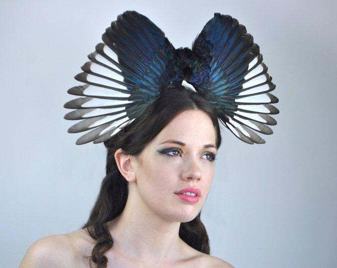 Elegant Magpie Wing Headpiece
