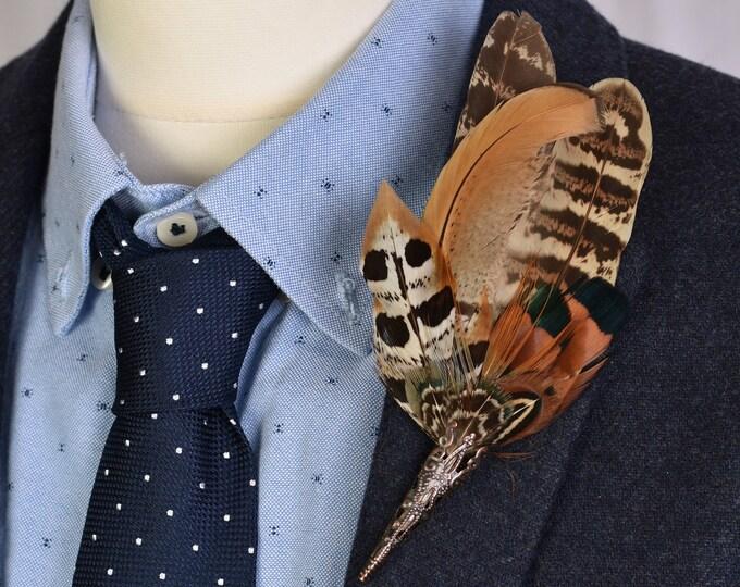 Copper Pheasant Feather Lapel No. 51