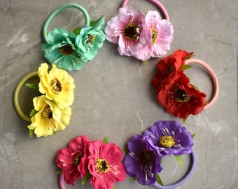 Silk Flower Hair Tie