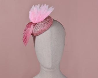 Pink Bird Wings Button Fascinator