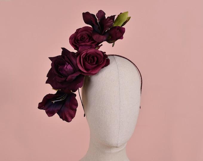 Sculptural Floating Plum Flower Headpiece