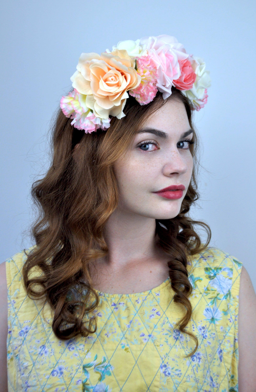 Lucille Silk Flower Crown Headpiece