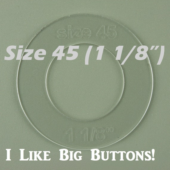 Size 45 1 1//8 inch Cover Button Template