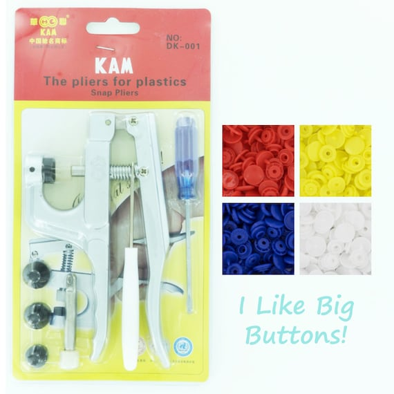 Choose 6 Colors from 130+ Color Choices Priority Shipping for USA 300 KAM Plastic Snaps /& Pliers for Cloth DiapersBibsPoppersSnap