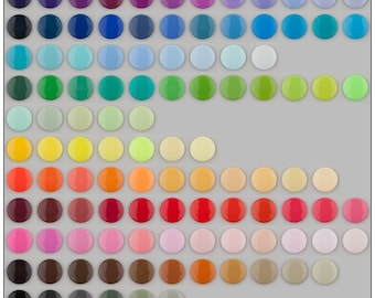 10 KAM Snaps Sets Plastic Snaps/Resin Snaps (You Choose 1 Color from 130 Colors) for Diapers/Bibs/Cloth/Nappies/KAM® Plastic Snap