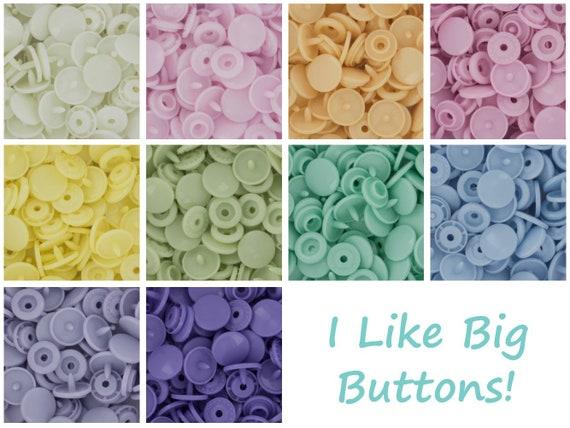 100 Pastel Spectrum Starter Pack KAM Snap//Plastic Snaps for Cloth Diapers//Bibs