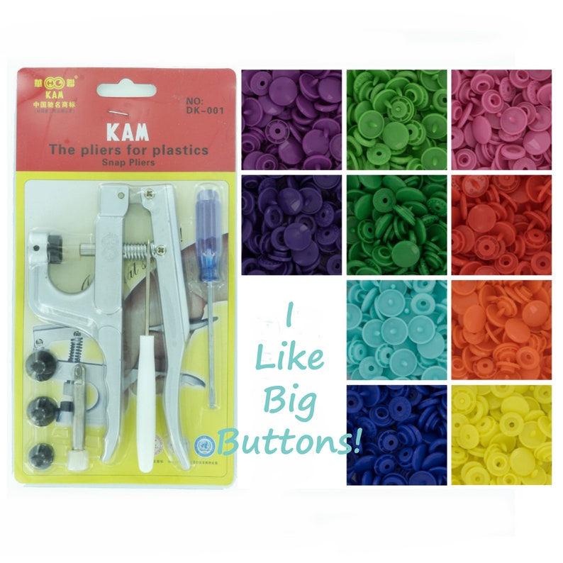 100 sets of Kam Plastic Snaps & Pliers STARTER PACK for image 0