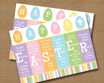 picture about Free Printable Easter Cards Religious identify Easter Playing cards Etsy