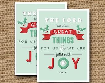 Instant download christmas card diy printable jesus etsy retro christmas typography card diy printable filled with joy christian christmas scripture christmas bible verse instant download m4hsunfo