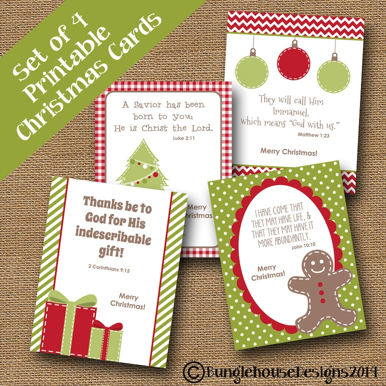 image regarding Printable Christmas Cards for Kids titled Small children Printable Xmas Playing cards Xmas Scriptures for Little ones  Xmas Bible Verses Do-it-yourself PRINTABLE Christian Xmas Playing cards