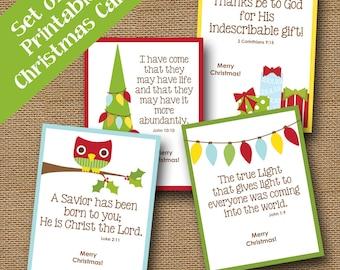 Printable christmas bookmark jesus scripture bible verse kids printable christmas cards cute scripture christmas cards diy printable instant download christmas m4hsunfo