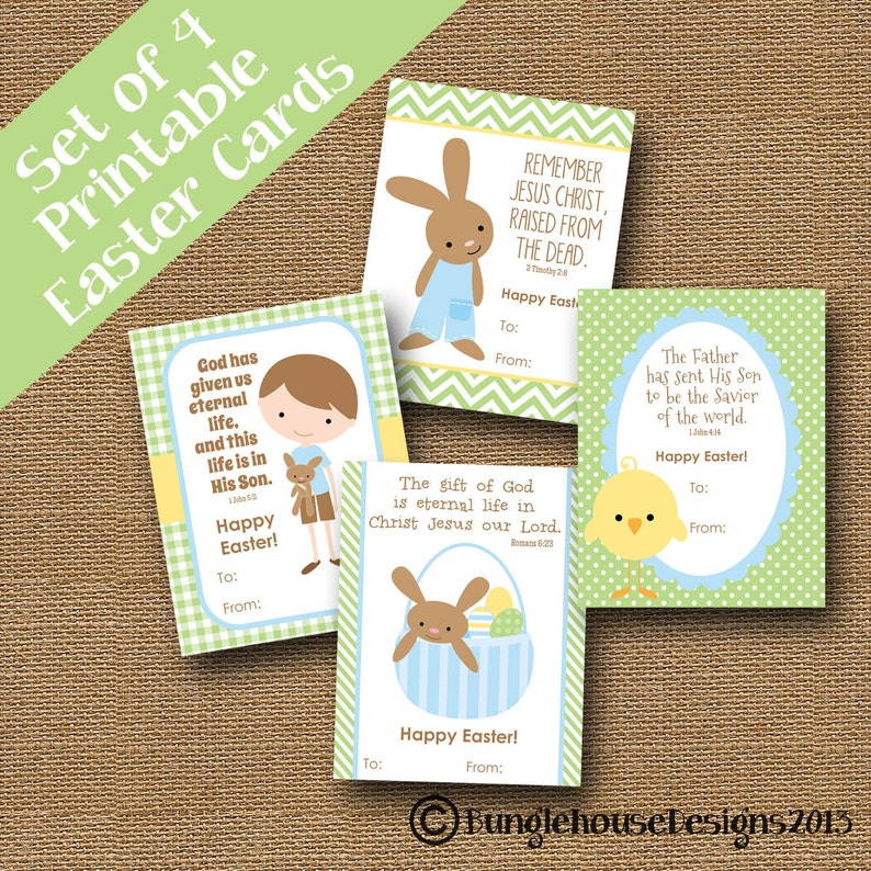 Children S Easter Cards Printable Christian Easter Card Kids Sunday School Church Scripture Easter Cards Bible Verses Diy Printable