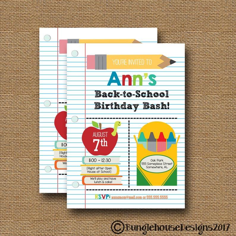Back To School Invitation Teacher Open House Cute School Etsy