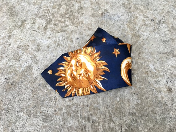 Suns, Planets, And Stars -- Dark blue necktie scat
