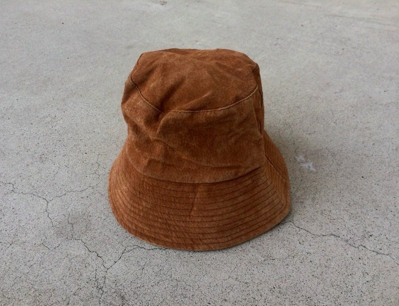 7aa0a2b1a Shady Persueded -- Brown suede bucket hat -- Made in china