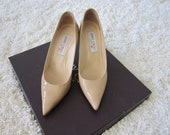 Jimmy Choo Patent Leather Neutral Pumps