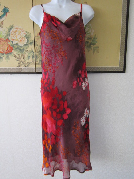 Betty Barclay Red Floral Silk Dress