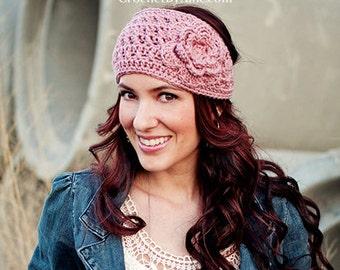 Emma Crochet Head Wrap, headband, ear warmer, crochet by allie
